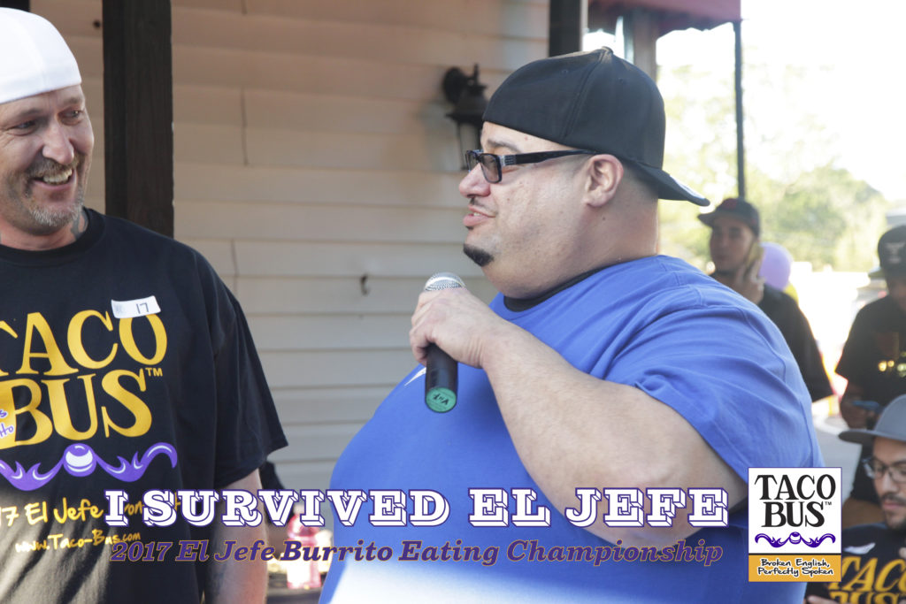 Finalists of 2017 El Jefe Burrito Eating Championship