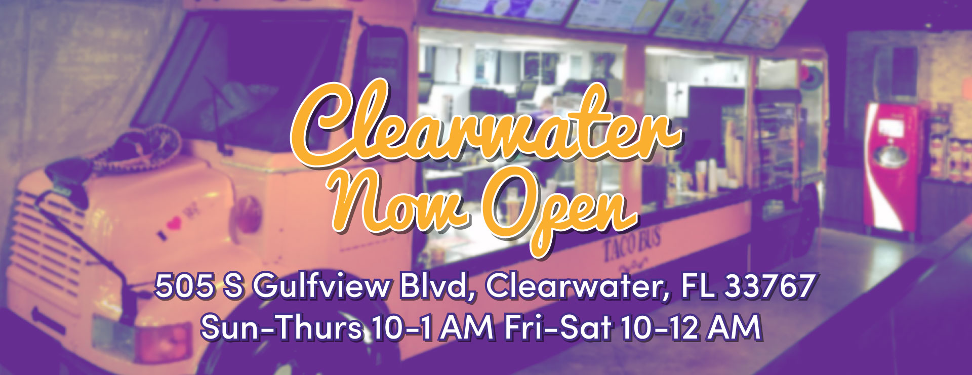 Clearwater Location Open